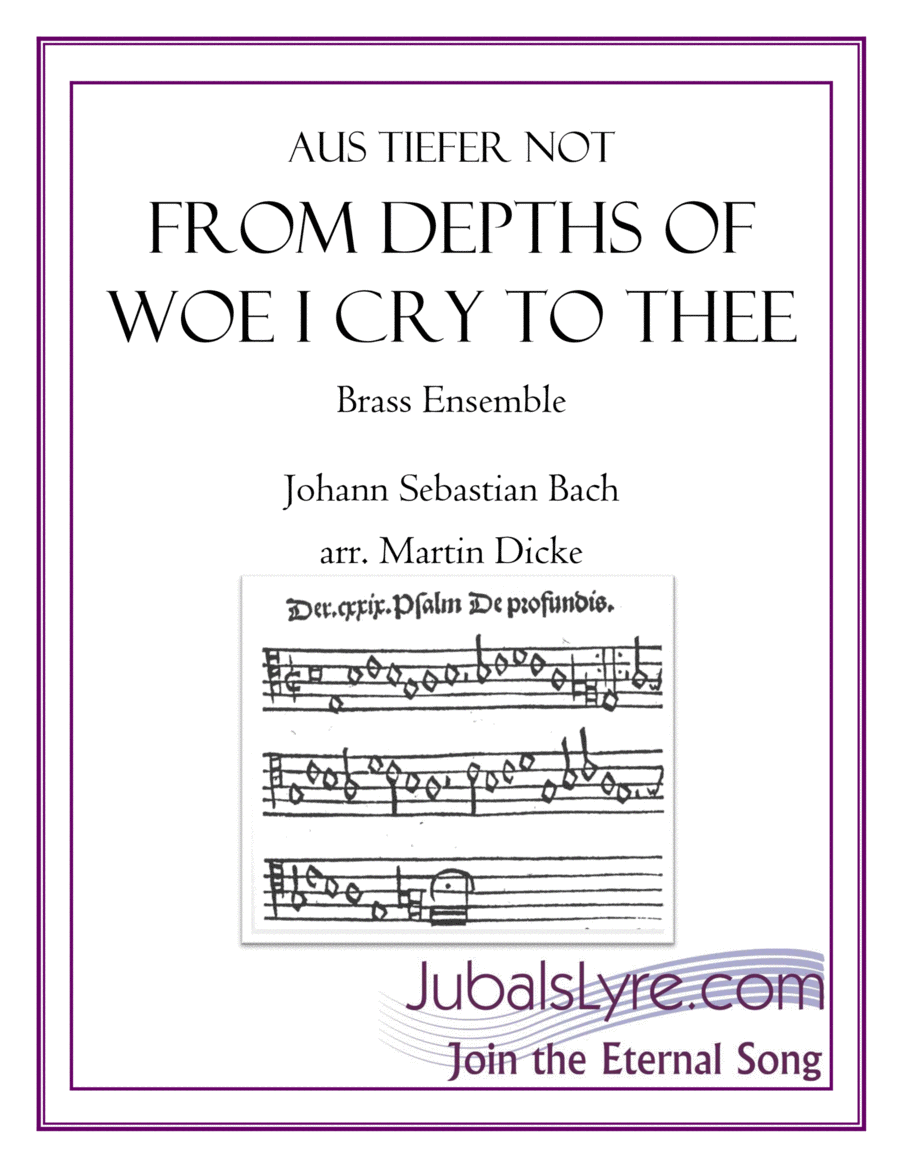 From Depths of Woe, BWV 686 (Brass Choir)