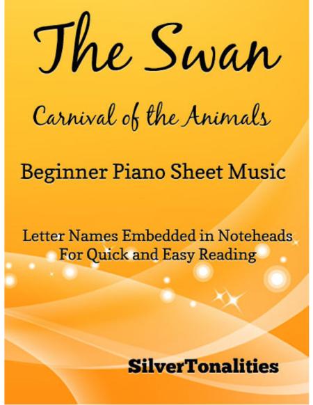 The Swan Beginner Piano Sheet Music