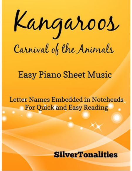 Kangaroos Carnival of the Animals Easy Piano Sheet Music