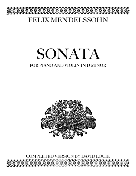 Violin Sonata in D minor, MWV Q 18