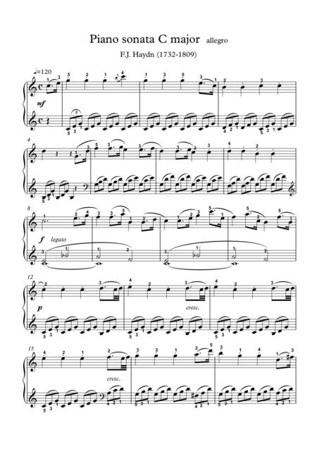 Piano sonata C major
