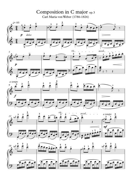 Composition in C major op.3