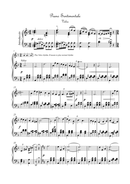 Piano Sentimentale Valsa