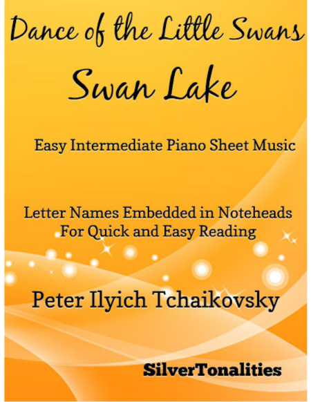 Dance of the Little Swans Easy Intermediate Piano Sheet Music