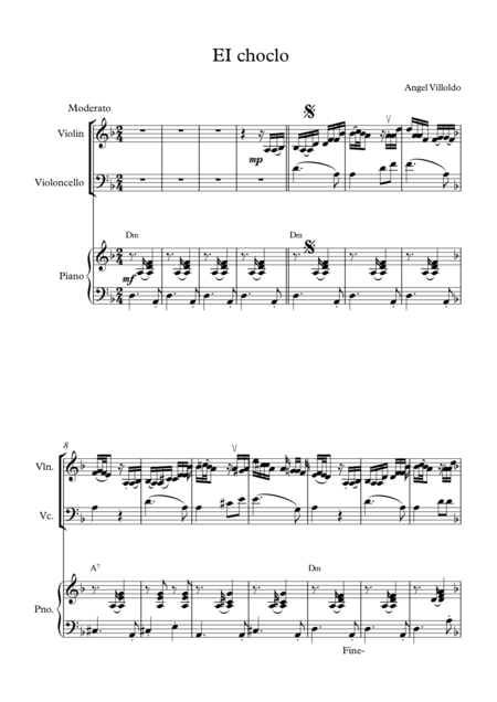 El choclo for Piano Trio