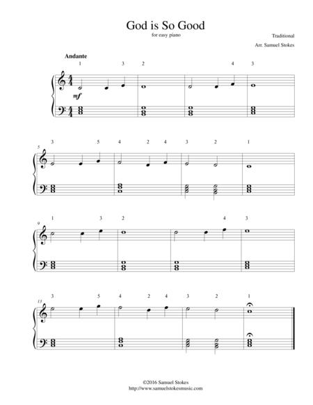 God is So Good - easy piano