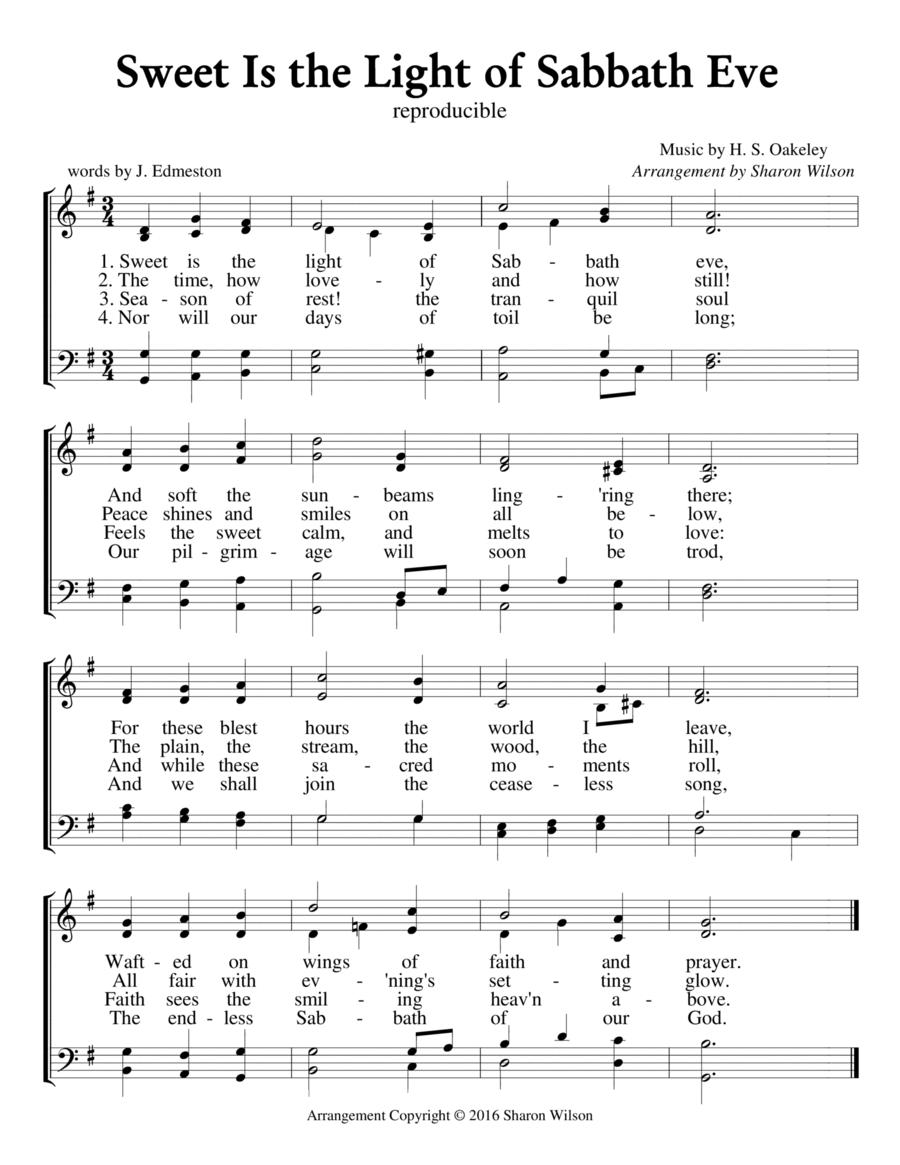 Sweet Is the Light of Sabbath Eve