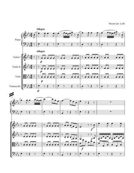 For String Quartet and Piano: Mozart Piano Concerto No. 22, K. 482 - 3rd Movement