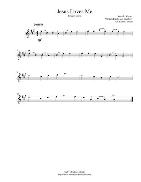 Jesus Loves Me - for easy violin