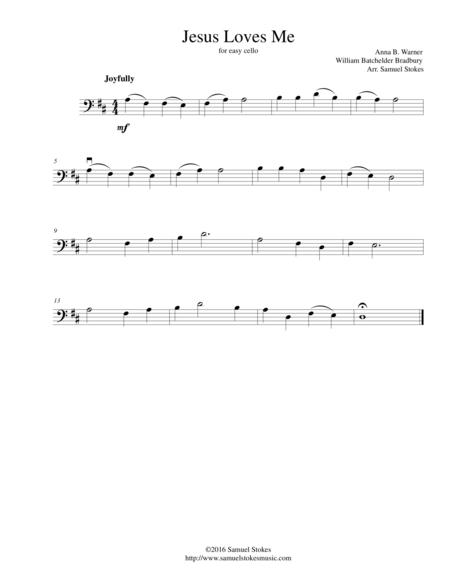 Jesus Loves Me - for easy cello