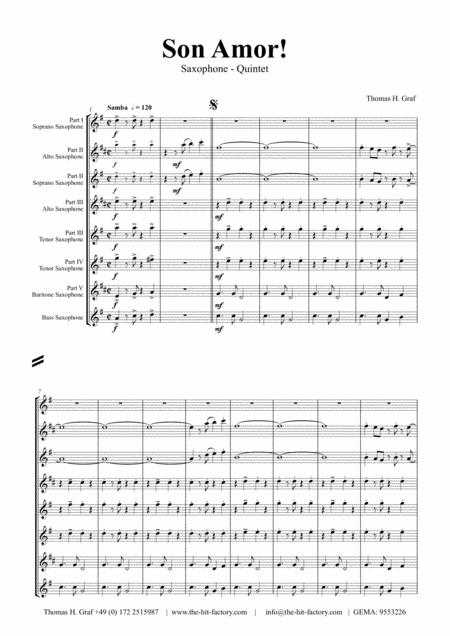 Son amor! - Samba - Saxophone Quintet
