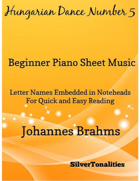 Hungarian Dance Number 5 Beginner Piano Sheet Music