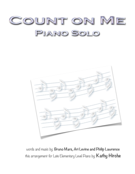 Count On Me - Piano Solo