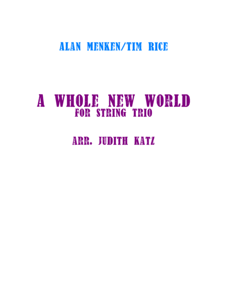 A Whole New World - for string trio