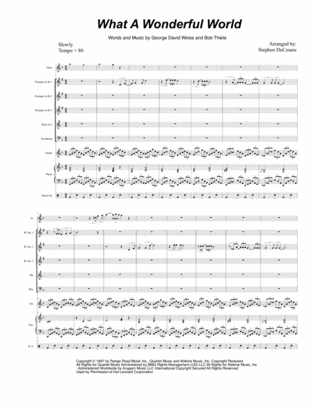 What A Wonderful World (for Brass Quintet)