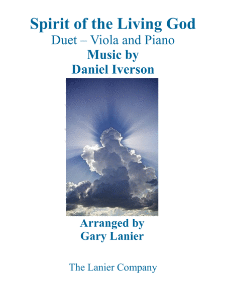 SPIRIT OF THE LIVING GOD (Duet – Viola & Piano with Parts)