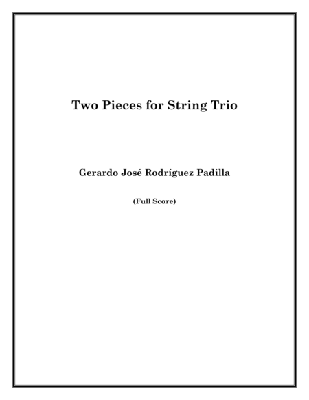 Two Pieces for String Trio