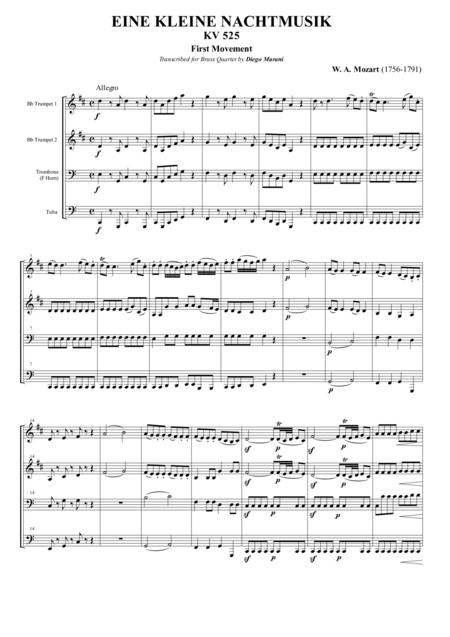 Eine Kleine Nachtmusik for Brass Quartet