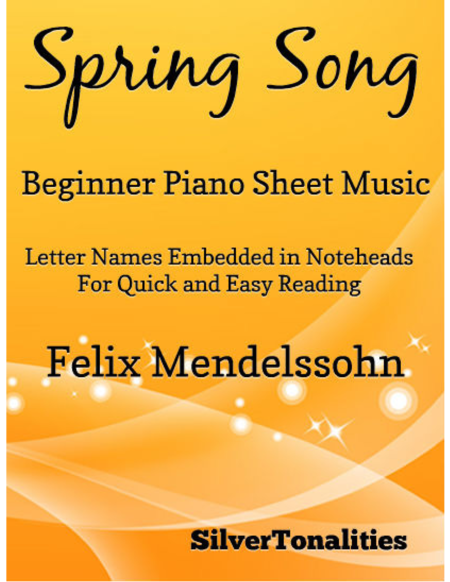 Spring Song Beginner Piano Sheet Music