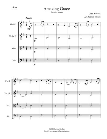 Amazing Grace - for string quartet