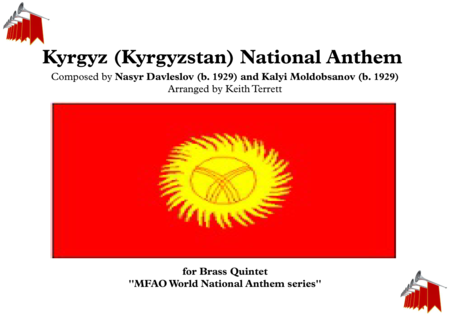 Kyrgyz (Kyrgyzstan) National Anthem for Brass Quintet
