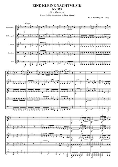 Eine Kleine Nachtmusik for Brass Quintet