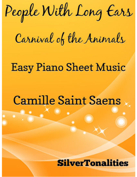People With Long Ears Easy Piano Sheet Music