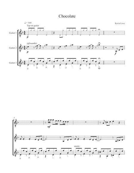 Chocolate (Guitar Trio) - Score and Parts