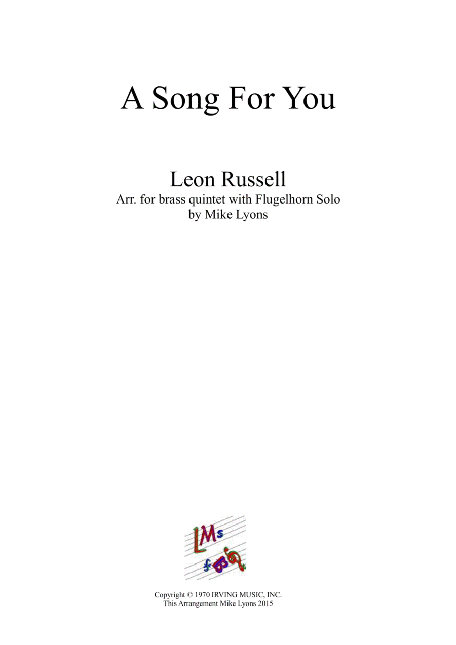 A Song For You (Brass Sextet)