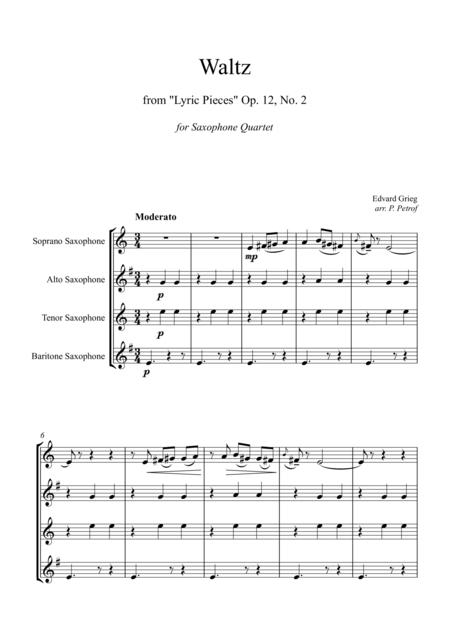 Ed. Grieg - Waltz from ''Lyric Pieces'' Op.12, No.2 - for Saxophone Quartet