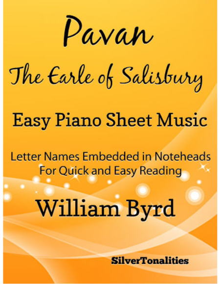 Pavan the Earle of Salisbury Easy Piano Sheet Music