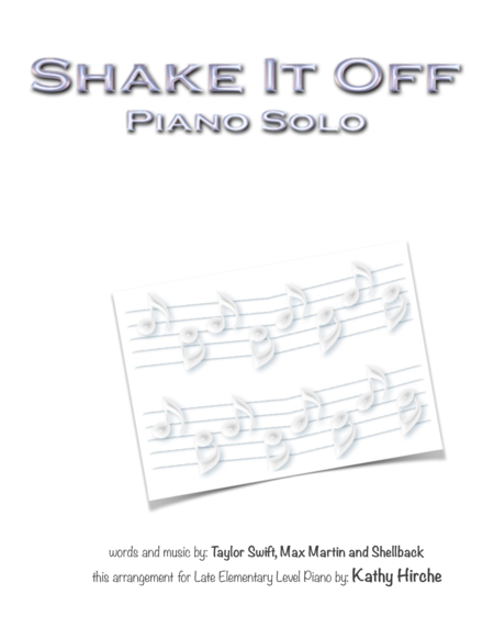Shake It Off - Piano Solo
