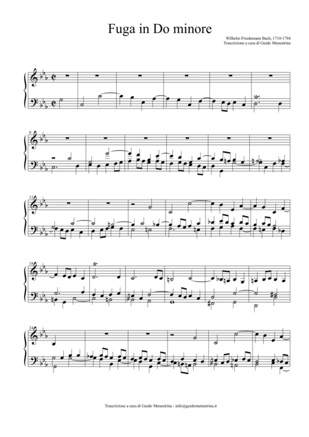 Wilhelm Friedemann Bach - Fuga in DOm (1770)