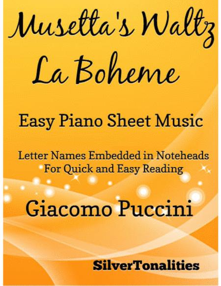 Musetta's Waltz Easy Piano Sheet Music