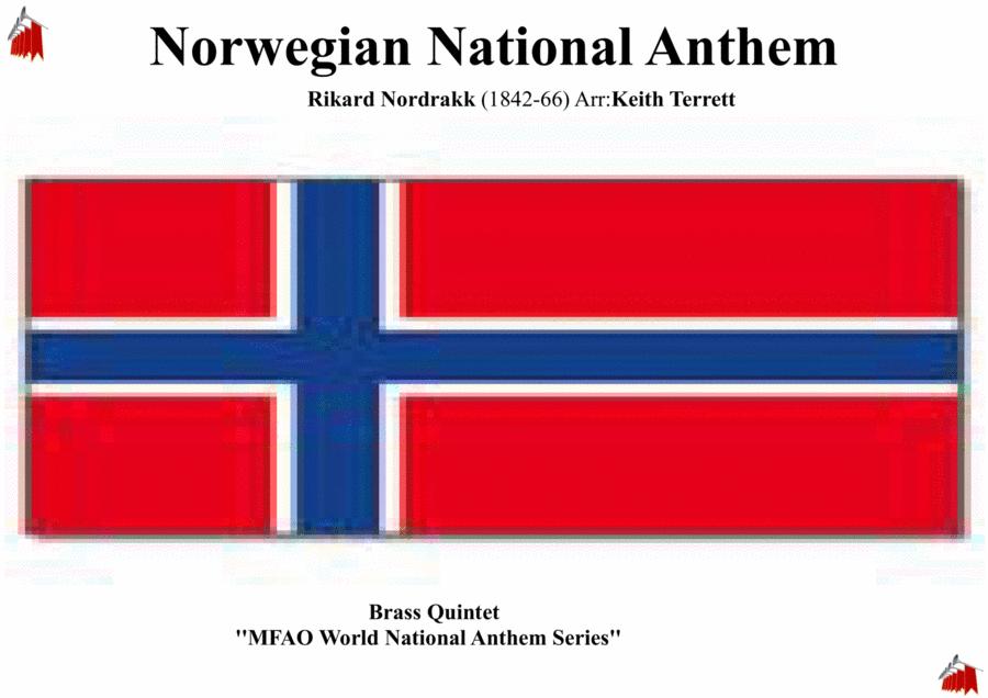 Norwegian National Anthem for Brass Quintet