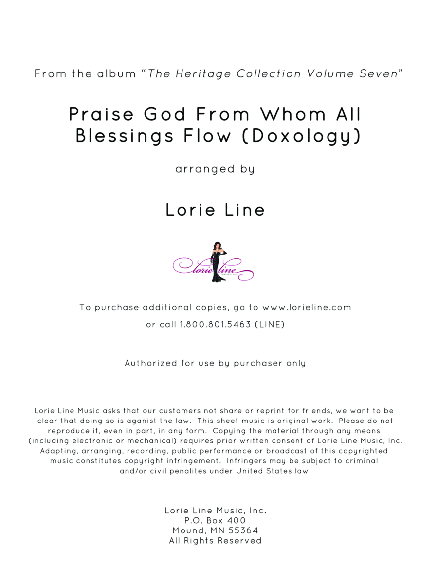 Praise God From Whom All Blessings Flow (Doxology)