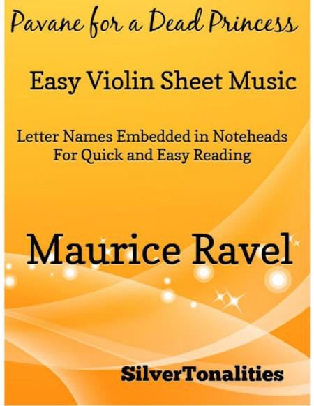 Pavane for a Dead Princess Easy Violin Sheet Music