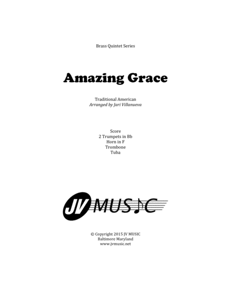 Amazing Grace for Brass Quintet