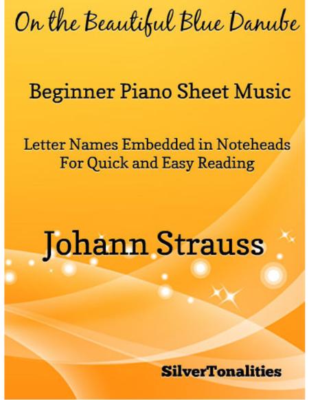 On the Beautiful Blue Danube Beginner Piano Sheet Music