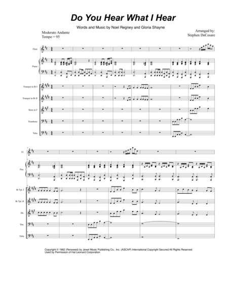 Do You Hear What I Hear (for Brass Quintet)