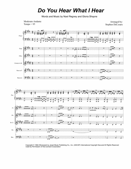 Do You Hear What I Hear (for Woodwind Quintet)
