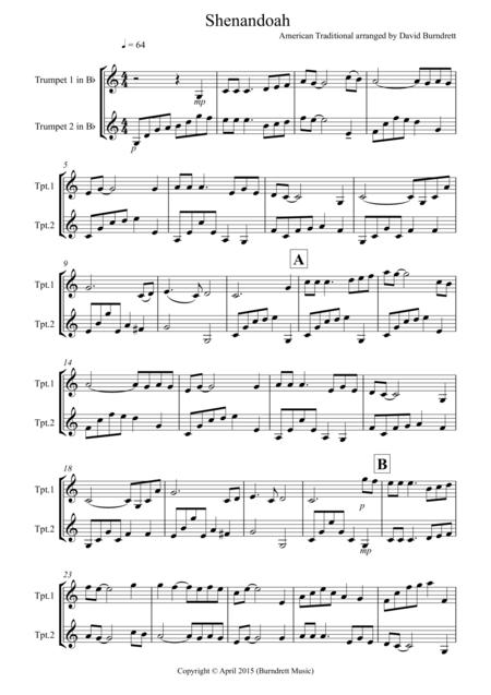 Shenandoah for Trumpet Duet