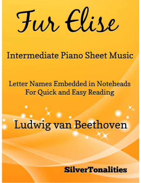 Fur Elise Intermediate Piano Sheet Music