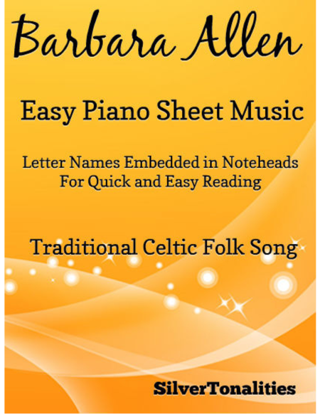Barbara Allen Easy Piano Sheet Music