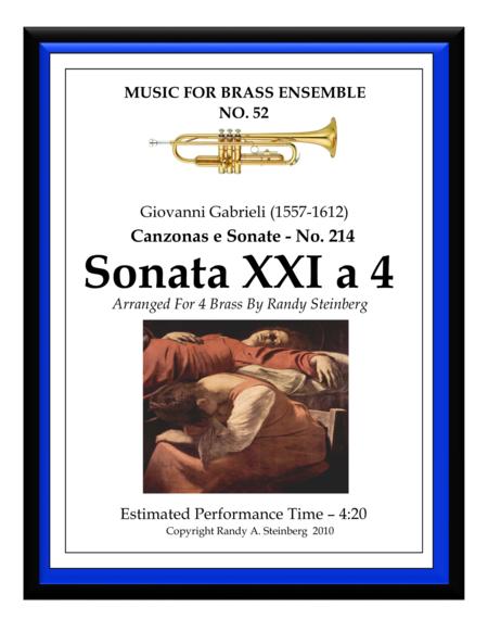 Sonata XXI a 4 - No. 214