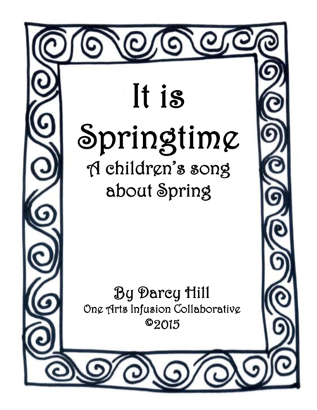 It Is Springtime Sheet Music: A Children's Song About Spring