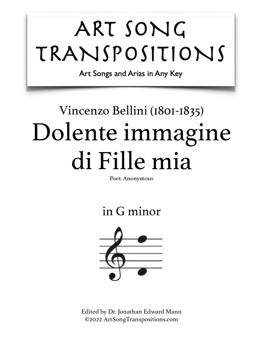 Dolente immagine di Fille mia (G minor)