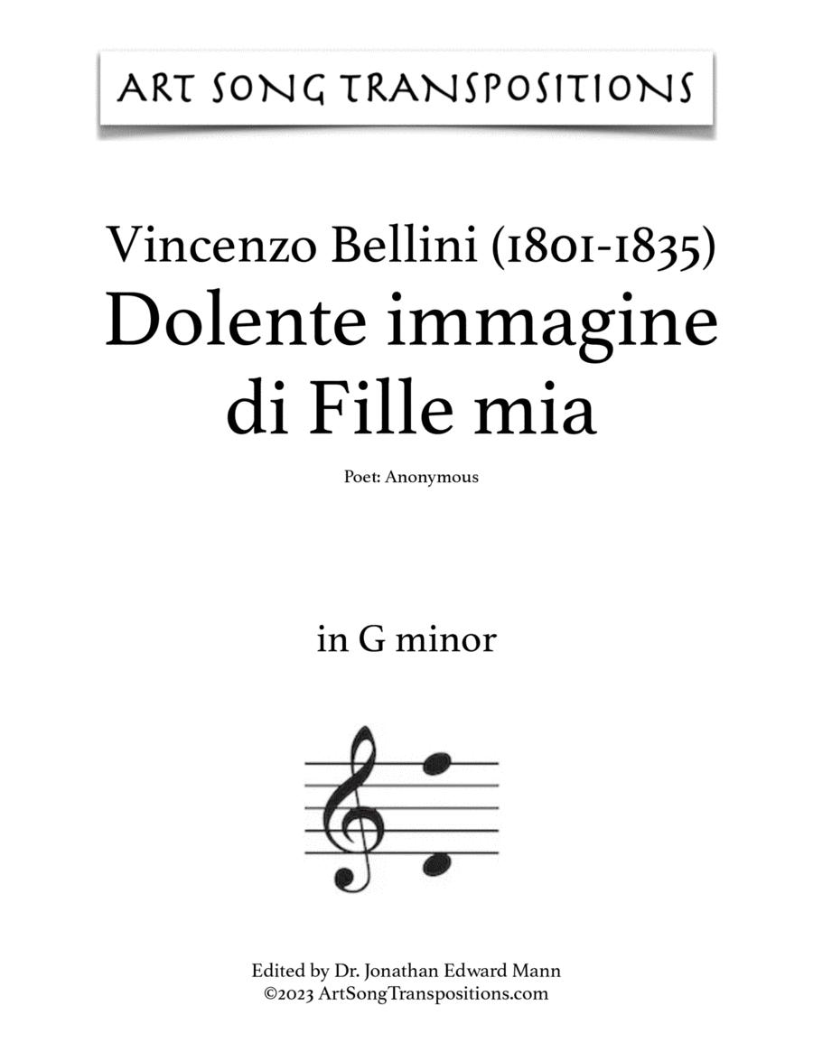 Dolente immagine di Fille mia (in 6 keys: G, F-sharp, F, E, E-flat, D minor)