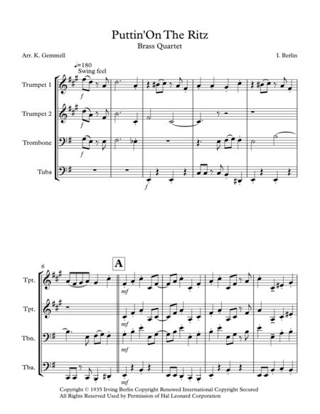Puttin' On The Ritz: Brass Quartet