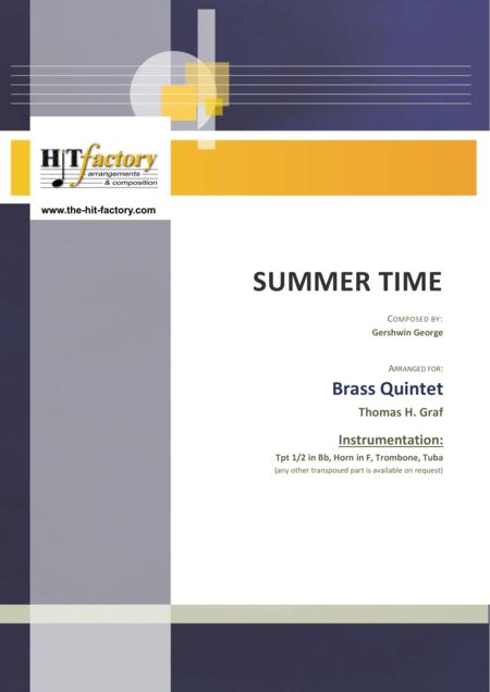 Summertime - Gershwin - 11/8 - Brass Quintet